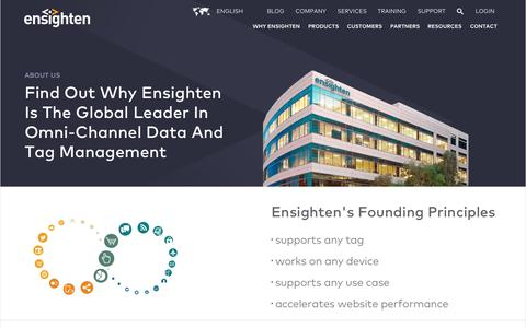 Screenshot of About Page ensighten.com - About Us | Ensighten's Vision for an Omni-Channel Platform - captured Nov. 18, 2015