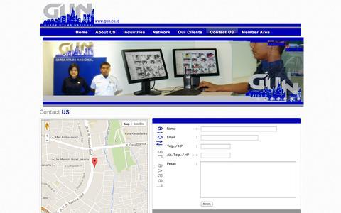 Screenshot of Contact Page gun.co.id - PT. Garda Utama Nasional - captured Oct. 2, 2014