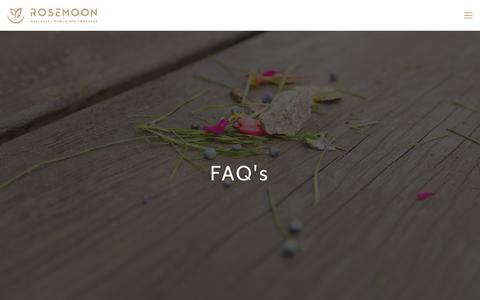 Screenshot of FAQ Page rosemoon.com.au - FAQS   Rosemoon Spa Perth- ROSEMOON - captured Dec. 1, 2016