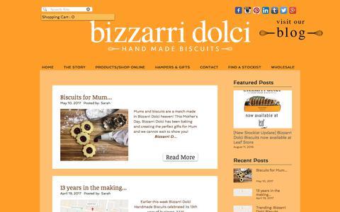 Screenshot of Blog bizzarridolci.com.au - Bizzarri Dolci Handmade Biscuits | BLOG - captured June 1, 2017