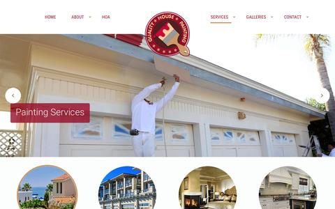 Screenshot of Services Page qhponline.com - Services - Quality House Painting | Newport Beach CA - captured Jan. 29, 2016