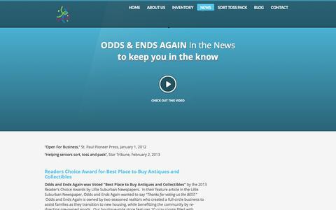 Screenshot of Press Page oddsandendsagain.com - Odds & Ends Again   NEWS - captured Sept. 30, 2014