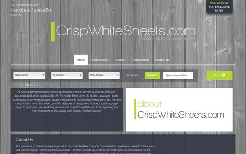 Screenshot of About Page crispwhitesheets.com - About Us - CrispWhiteSheets.com - captured Oct. 3, 2014