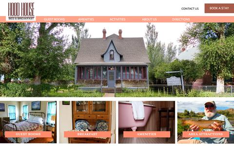 Screenshot of Home Page Maps & Directions Page hoodhousebnb.com - The Historic Hood House in Saratoga, Wyoming - Comfortable Stay a few blocks from Hot Pools and R - captured July 1, 2018