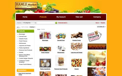 Screenshot of Products Page hamlemarket.com - Catalog - Hamle Mediterranean Market - Buy Turkish Food Online - captured Oct. 1, 2014