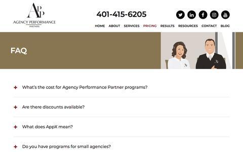 Screenshot of FAQ Page agencyperformancepartners.com - FAQ | Agency Performance Partners - captured July 29, 2018