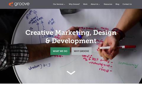 Screenshot of Home Page gotgroove.com - Magento Gold Partner | Hubspot Platinum Partner | Groove: Creative Marketing, Design & Development - captured Jan. 24, 2016