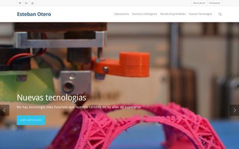 Screenshot of Home Page estebanotero.com - Esteban Otero - captured March 2, 2016