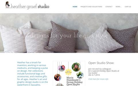 Screenshot of Home Page heathergraefstudio.com - Heather Graef Studio - Handbags & Accessories | Designs for Your Life and Style - captured Jan. 26, 2015