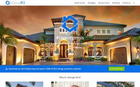 Screenshot of Home Page stgeorgemls.com - St. George & Southern Utah Area MLS - captured Jan. 27, 2016