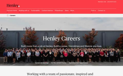 Screenshot of Jobs Page henley.com.au - Careers - Residential Construction Jobs | Henley - captured Jan. 29, 2017