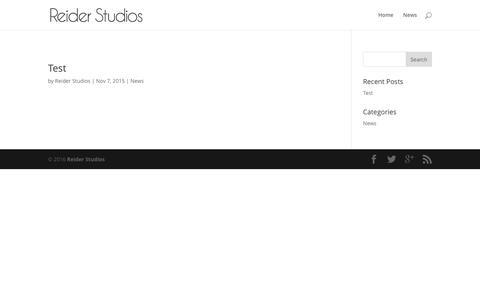 Screenshot of Press Page reiderstudios.com - News – Reider Studios - captured Jan. 11, 2016
