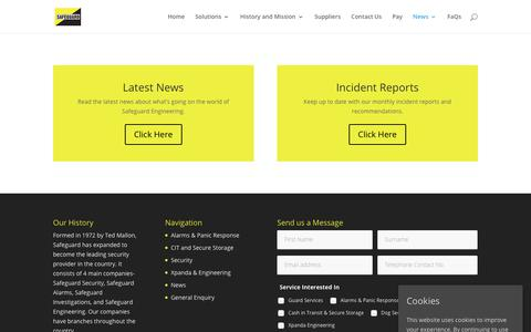 Screenshot of Press Page safeguard.co.zw - News | Articles | Break in Reports - Safeguard - captured Dec. 17, 2018