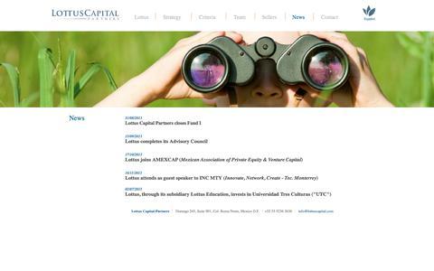 Screenshot of Press Page lottuscapital.com - Lottus Capital Partners - captured Sept. 10, 2017