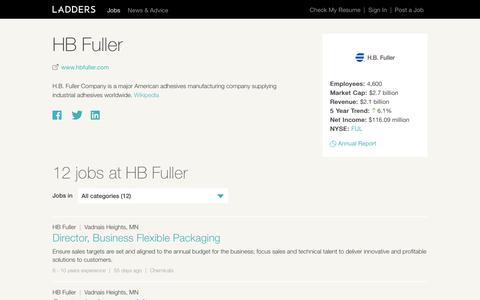 Jobs at HB Fuller | Ladders