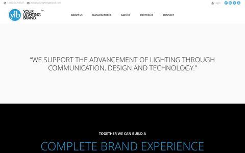 Screenshot of Home Page yourlightingbrand.com - Your Lighting Brand - captured Dec. 5, 2015