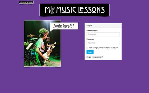 Screenshot of Login Page mymusiclessons.co - Music Lessons Oak Park IL | www.mymusiclessons.co | Log-In - captured Sept. 20, 2018