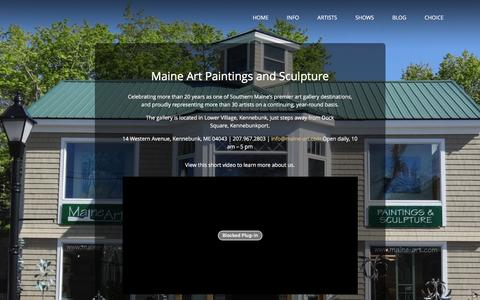 Screenshot of About Page maine-art.com - Maine Art » About - captured June 22, 2016