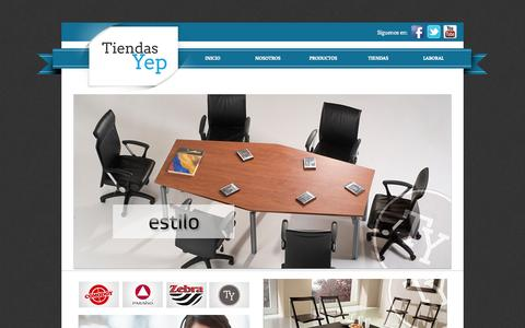 Screenshot of Home Page tiendasyep.com - Tiendas Yep - captured Oct. 7, 2014