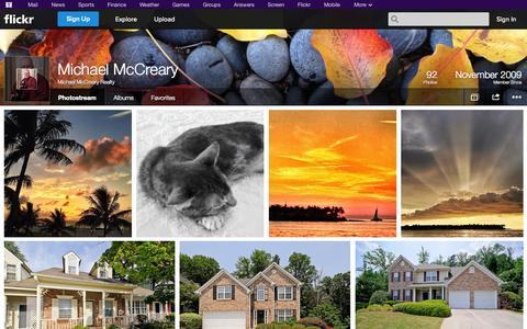 Screenshot of Flickr Page flickr.com - Flickr: Michael McCreary Realty's Photostream - captured Oct. 22, 2014