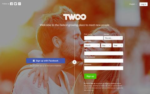 Screenshot of Home Page twoo.com - Twoo - Meet New People - captured Dec. 22, 2015