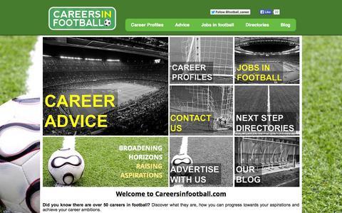 Screenshot of Jobs Page careersinfootball.com - Careersinfootball.com - captured Oct. 5, 2014