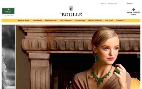 Screenshot of Home Page deboulle.com - de Boulle | Dallas & Houston - captured Sept. 13, 2015