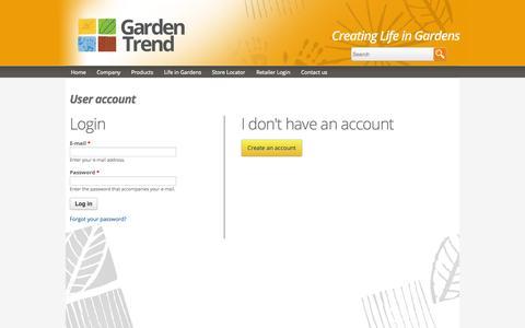 Screenshot of Login Page gardentrend.com.au - Home   Garden Trend - captured Sept. 29, 2014