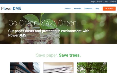 Paperless Document Management - Go Green