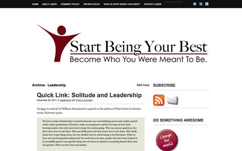 Screenshot of Team Page startbeingyourbest.com - Leadership | Start Being Your Best - captured Oct. 7, 2014