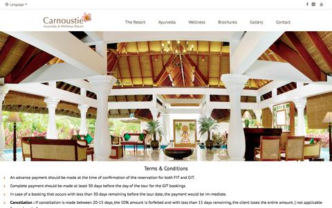 Screenshot of Terms Page carnoustieresorts.com - Carnoustie Resorts - Contact Us - captured July 15, 2017