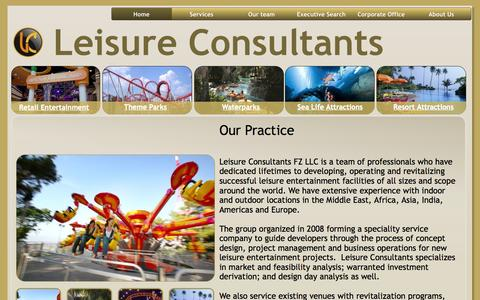 Screenshot of Home Page leisure-consultants.com - Leisure Consultants LLC - captured Sept. 29, 2014