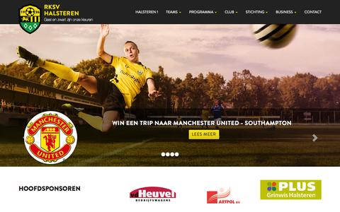 Screenshot of Home Page rksvhalsteren.nl - Homepage - RKSV Halsteren - captured July 16, 2015