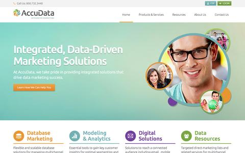 Screenshot of Site Map Page accudata.com - AccuData Integrated Marketing - An Integrated Marketing Data Solutions Company - captured Sept. 19, 2014