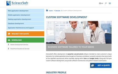 Screenshot of Services Page scnsoft.com - Custom Software Development / Custom App Development - ScienceSoft - captured June 29, 2017