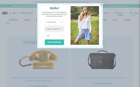 Screenshot of Contact Page whitestuff.com - Contact Us   White Stuff - captured June 2, 2019