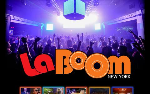 Screenshot of Home Page laboomny.com - La Boom New York, The best nightclub club in Queens - captured Sept. 11, 2015
