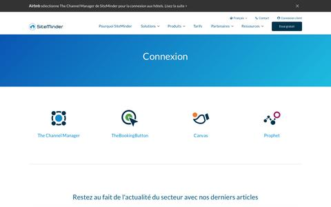 Screenshot of Login Page siteminder.com - Connexion à SiteMinder - accédez à la plateforme d'acquisition de clients de SiteMinder - captured Oct. 21, 2018