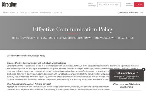 Effective Communication Policy