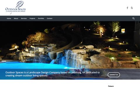 Screenshot of Home Page outdoorspacesdesign.com - Outdoor Spaces - Custom Landscape Design - captured Nov. 30, 2016