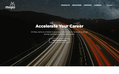 Screenshot of Jobs Page moj.io - Careers - Mojio - Connected Car Platform - captured July 1, 2018