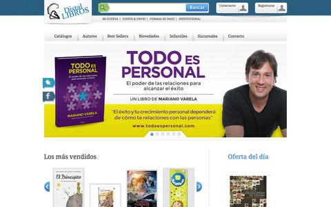 Screenshot of Home Page distalnet.com - Distal Libros - captured Oct. 5, 2014