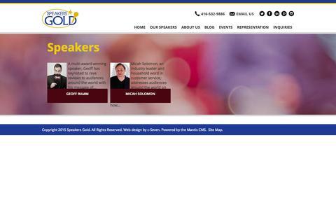 Screenshot of Support Page speakersgold.com - Customer Service | Speakers Gold - captured Aug. 12, 2015