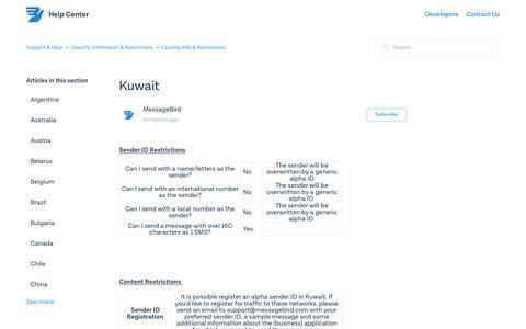Kuwait – Support & Help