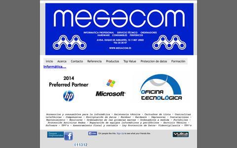 Screenshot of Home Page megacom.es - INFORMATICA PROFESIONAL MEGACOM SOFTWARE - captured Oct. 6, 2014