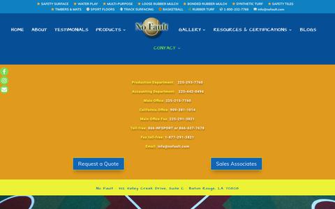 Screenshot of Contact Page nofault.com - contact – No Fault - captured Oct. 18, 2018