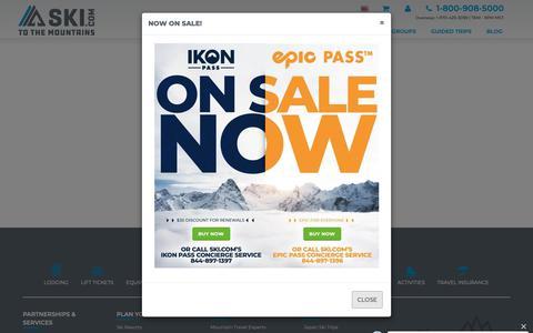 Screenshot of Login Page ski.com - Account login - captured March 9, 2019