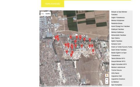 Screenshot of Maps & Directions Page kmu.edu.tr - Karaman Aday Öğrenci - captured Nov. 25, 2015
