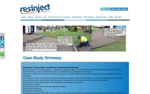 Screenshot of Case Studies Page resinject.com.au - Case Study Driveway | Resinject Australia | - captured Oct. 7, 2014