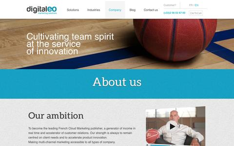 Screenshot of About Page digitaleo.com - About us.  Find out who's behind Digitaleo - captured Sept. 30, 2014